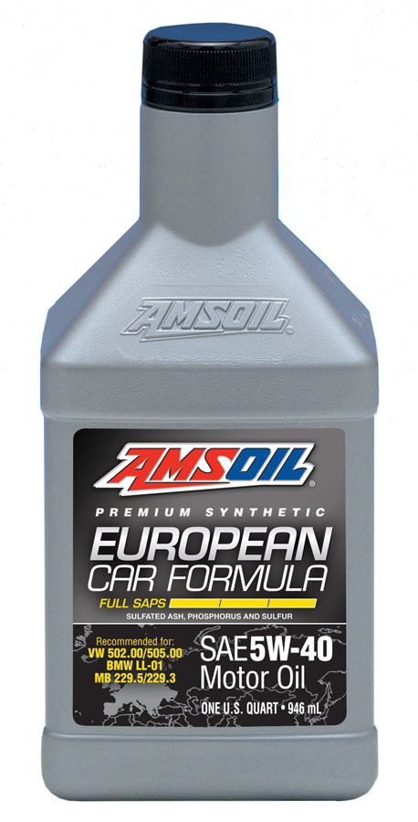 Amsoil full saps 5w 40 european synthetic motor oil efm for Best motor oil in the world