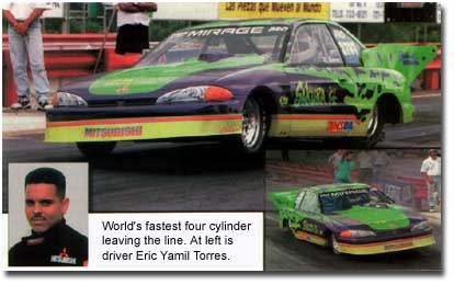 1995 Mitsubishi Mirage breaks record using Amsoil gear lube, racing grease and synthetic motor oil