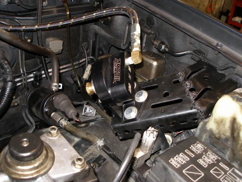 AMSOIL By-Pass Filtration System on 1HDT Turbo Diesel Engine