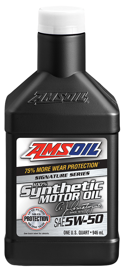 Amsoil Sae 5w 50 Signature Series 100 Synthetic Motor Oil