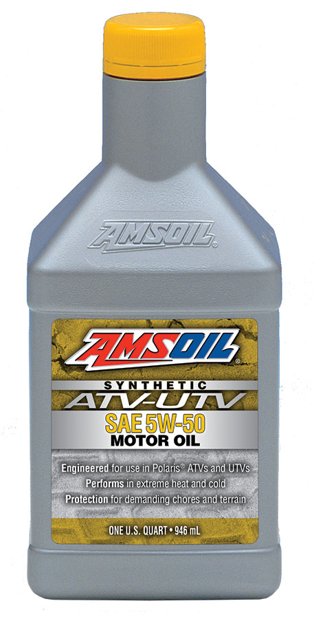 Amsoil 5w 50 synthetic atv utv motor oil for Best motor oil in the world