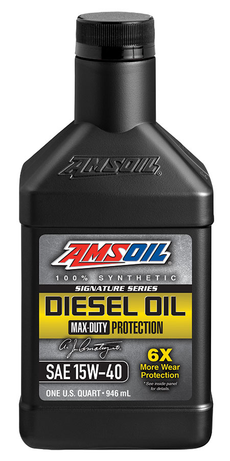 Amsoil signature series max duty synthetic ck 4 diesel oil for Best motor oil in the world