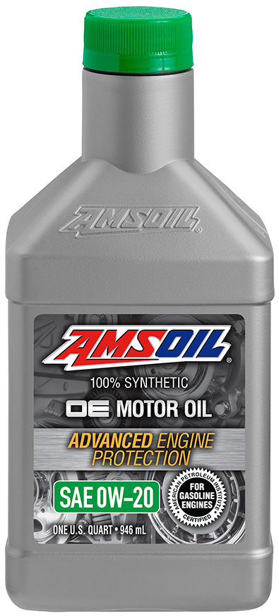 Amsoil oe 0w 20 synthetic motor oil oez for Sae 0w 20 synthetic motor oil