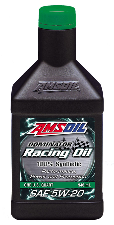 Amsoil dominator synthetic 5w 20 racing oil rd20 for Best motor oil in the world