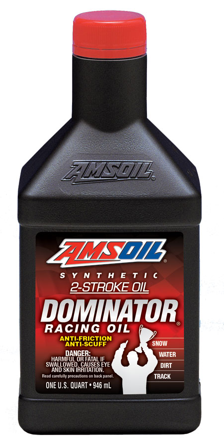 Amsoil dominator synthetic 2 cycle racing oil for Best motor oil brands