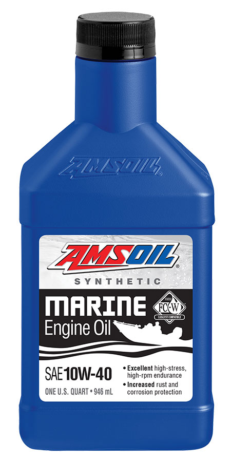 Amsoil 10w 40 Synthetic Formula 4 Stroke Marine Oil Wcf