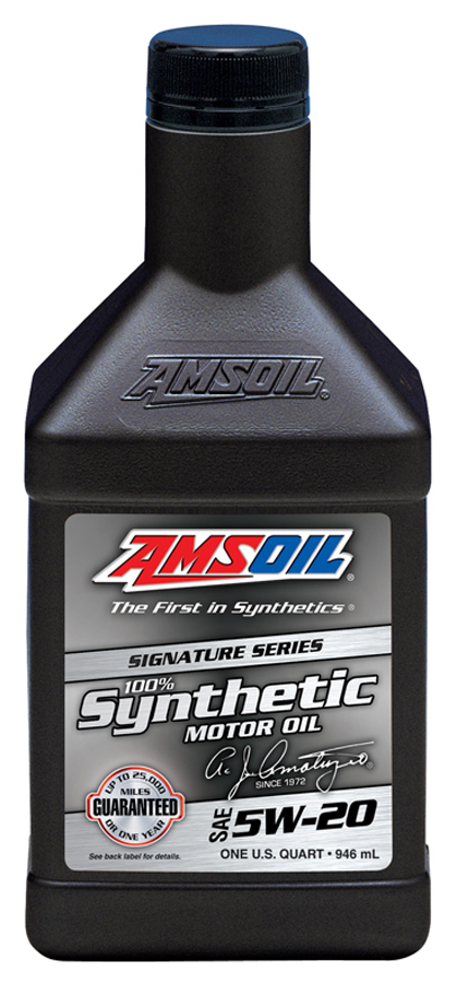 Amsoil sae 5w 20 signature series 100 synthetic motor oil for Best motor oil in the world