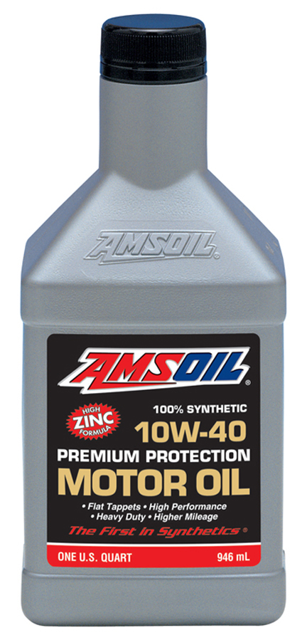 Amsoil 10w 40 synthetic premium protection motor oil amo for Best motor oil in the world