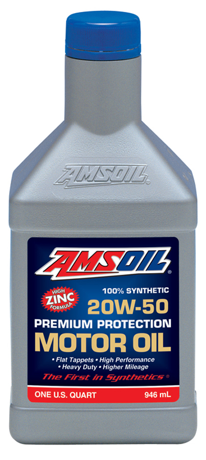 Amsoil 20w 50 premium protection motor oil aro for Best motor oil in the world
