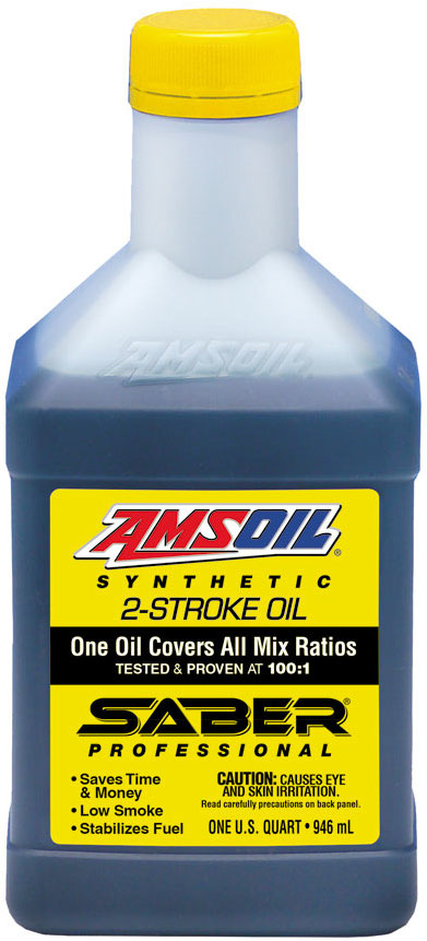 Amsoil saber professional synthetic 2 stroke oil for Best motor oil in the world