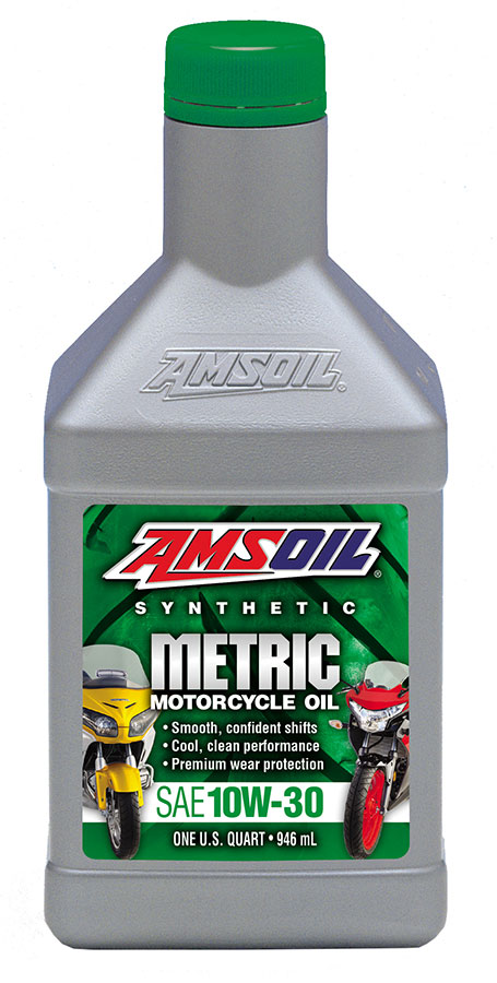 Amsoil 10w 30 synthetic metric motorcycle oil mct for Best motor oil in the world