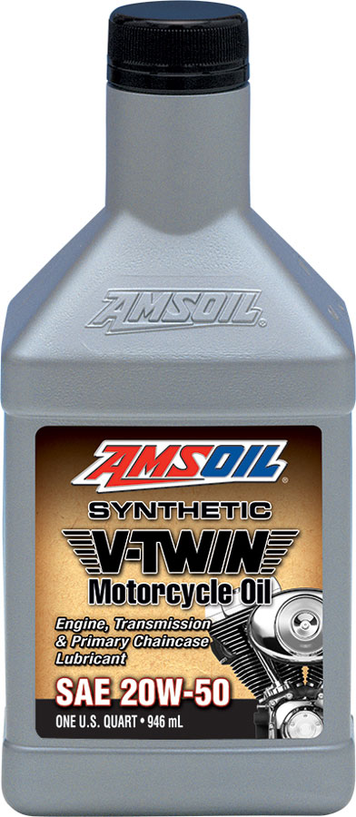 Amsoil 20w 50 synthetic v twin motorcycle oil mcv 20w50 for Best motor oil in the world